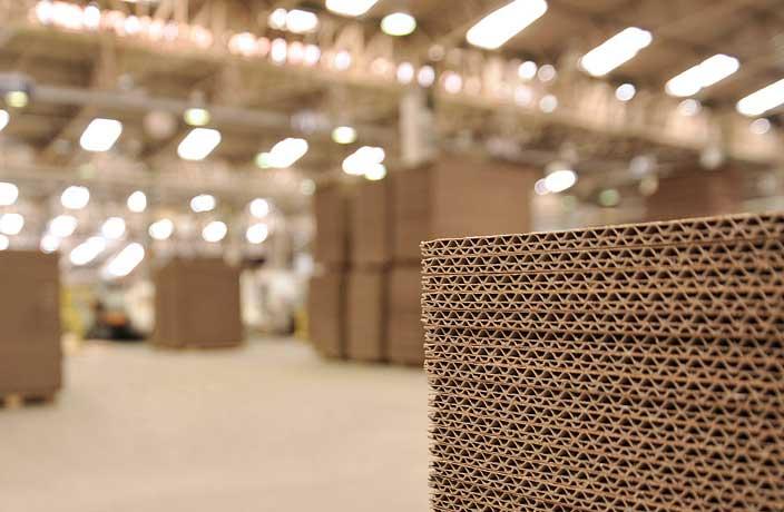 Chapas de papelão ondulado